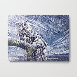 Moonlight and Frost Metal Print