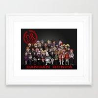 dangan ronpa Framed Art Prints featuring Dangan Ronpa - Despair Survival Program by marisue