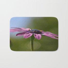 Macro Shot Of A Purple Osteospermum Bath Mat