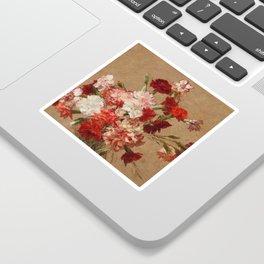 Henri Fantin Latour - Carnations Without Vase Sticker