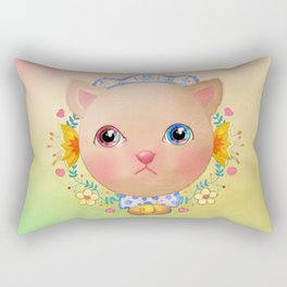 Cat you put the universe in the eyes Rectangular Pillow