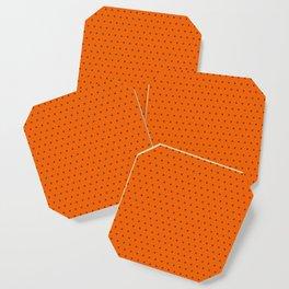 Orange and black cross sign pattern Coaster