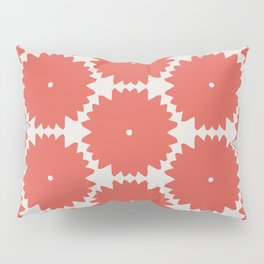 Red Stars of Christmas Pattern Geometric Abstract Pillow Sham