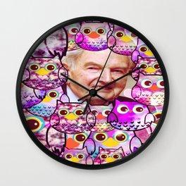 Rockefeller & owl-264 Wall Clock
