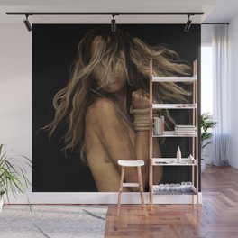 Tied up Blonde Wall Mural