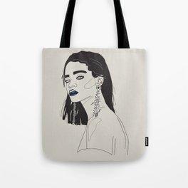 Rihanna blue Tote Bag