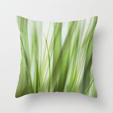 Grass talk Throw Pillow
