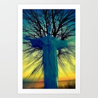 jesus Art Prints featuring jesus by  Agostino Lo Coco