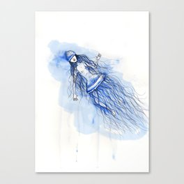 Under the deep sea - Sumergida en las profundidades Canvas Print