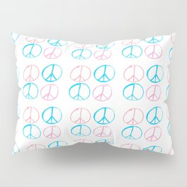 Peace and love-anti-war,pacifist, pacifism,hippies,paz,love,heart, Pillow Sham