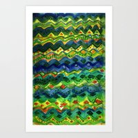 green pattern Art Prints featuring Green pattern by Nato Gomes