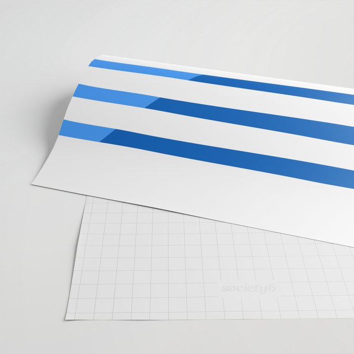 Beach Stripes Blue Wrapping Paper
