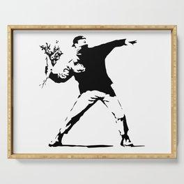 Rage, Flower Thrower - Banksy Serving Tray