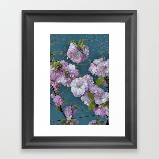 Vintage Pink Blossoms Framed Art Print
