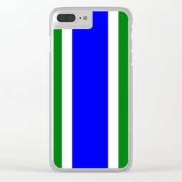 TEAM COLORS 10...BLUE,GREEN Clear iPhone Case