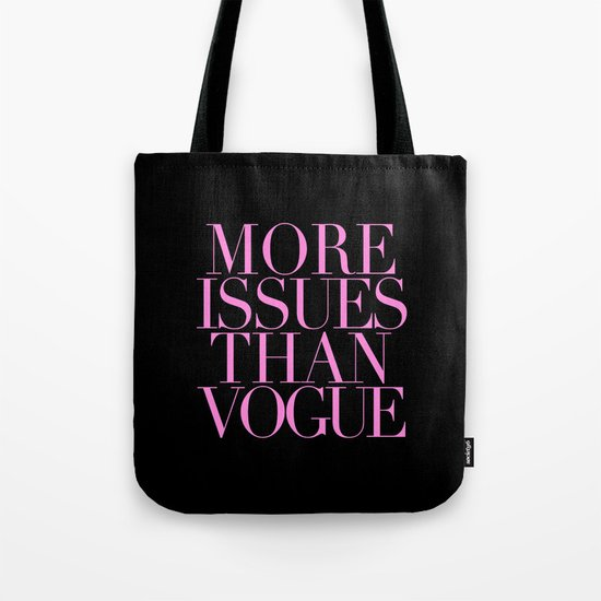 MORE ISSUES {PINK} Tote Bag