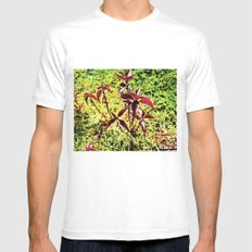 Natural love. MEDIUM White Mens Fitted Tee
