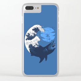 Wave megalodon Clear iPhone Case
