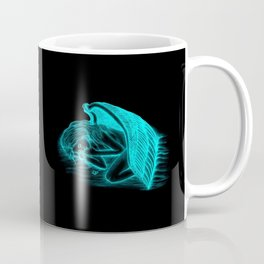 A sleeping Angel in black and green design Coffee Mug