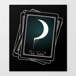 Luna Tarot Card Canvas Print