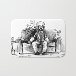 bob and frank's couch capsule Bath Mat
