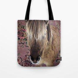 Icelandic pony with rosy posies Tote Bag