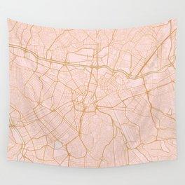 Sao Paulo map Wall Tapestry