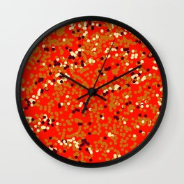 dots on red Wall Clock