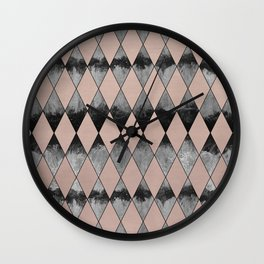 Geometric Diamond Glam #1 #geo #decor #art #society6 Wall Clock