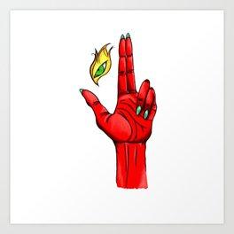 Eye Tribute - Red Art Print