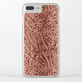 Celtic Warlord copper Clear iPhone Case