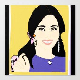 Knock Knock! Mina Yellow Canvas Print