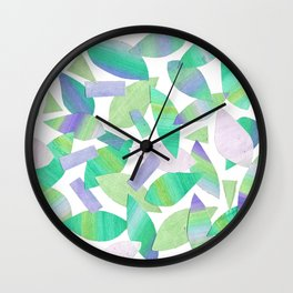 Leaf Litter (bright) Wall Clock