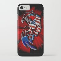 patriotic iPhone & iPod Cases featuring Patriotic Eagle by Mr D's Abstract Adventures