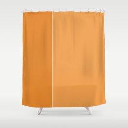 Orange Lines Shower Curtain
