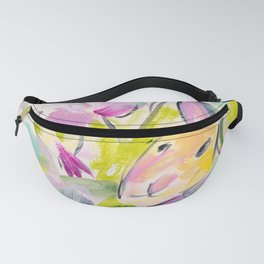 Whimsical Rabbit Pink and Blue Fanny Pack
