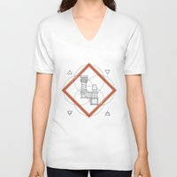 roman V-neck T-shirts featuring Roman Numerals by Javier Montañés