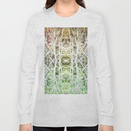 124 - White branches design Long Sleeve T-shirt