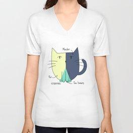 Cat Pie Chart Unisex V-Neck