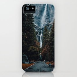 Upper and Lower Yosemite Falls iPhone Case