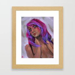 What are you drawing Ryan? // 243 Framed Art Print