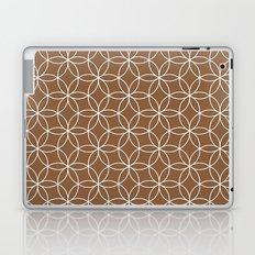 Chocolate brown Lotus Laptop & iPad Skin