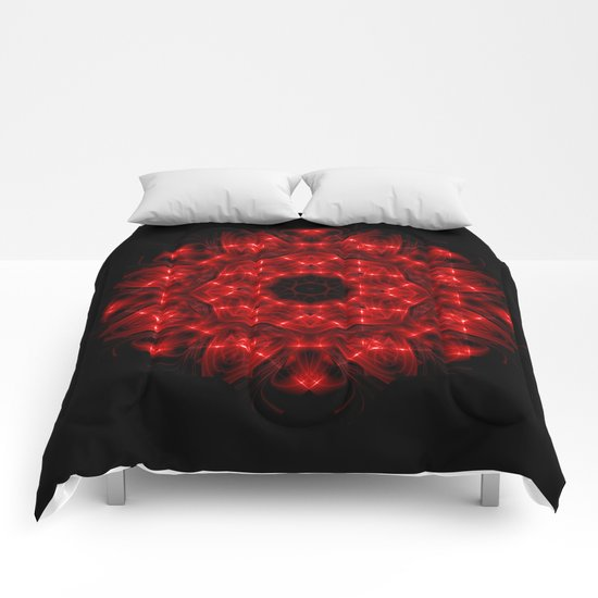 Red Rose Mandala Comforters