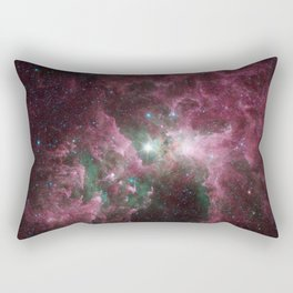 Abstract Purple Space Image Rectangular Pillow