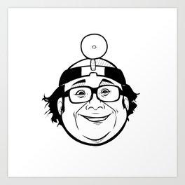 Danny DeVito - It's Always Sunny - Dr. Mantis Toboggan Art Print