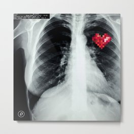 RX_heart Metal Print