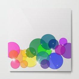 Translucent Rainbow Colored Circles Digital Illustration - Multi Colored Artwork Metal Print