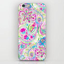 Paisley Watercolor Brights iPhone Skin