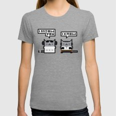 I Meow You - Cat Wars Tri-Grey Womens Fitted Tee MEDIUM