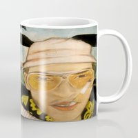 fear and loathing Mugs featuring Fear & Loathing by Lindsey Pudlewski